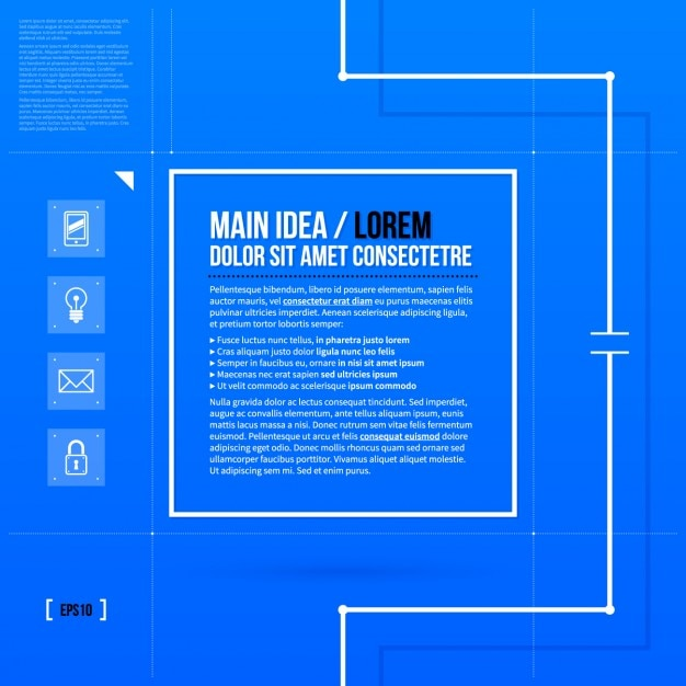 Infographic Ideas infographic ideas : Blue Infographic Ideas Template Vector | Free Download