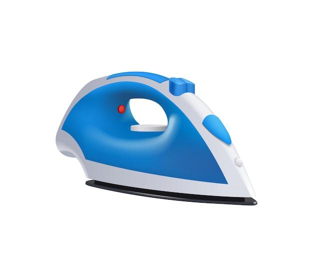 Blue iron on white Premium Vector