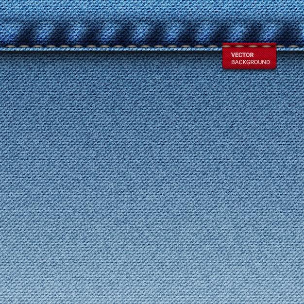 Blue jeans denim texture square Premium Vector