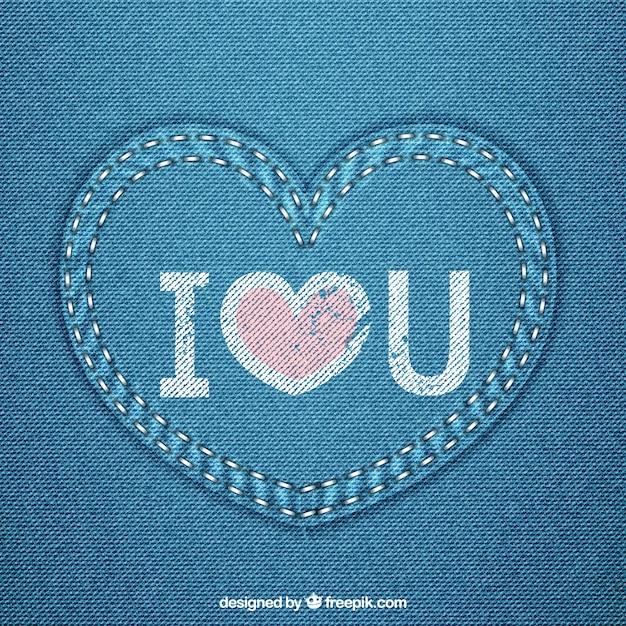 Blue jeans cuore Vettore gratuito