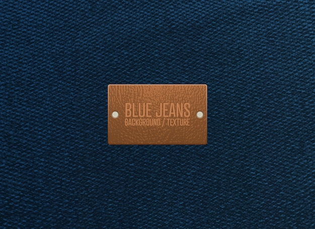 Blue jeans texture background. vector illustration. Premium Vector