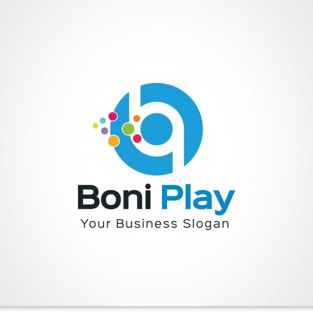 blue letter b logo vector free download