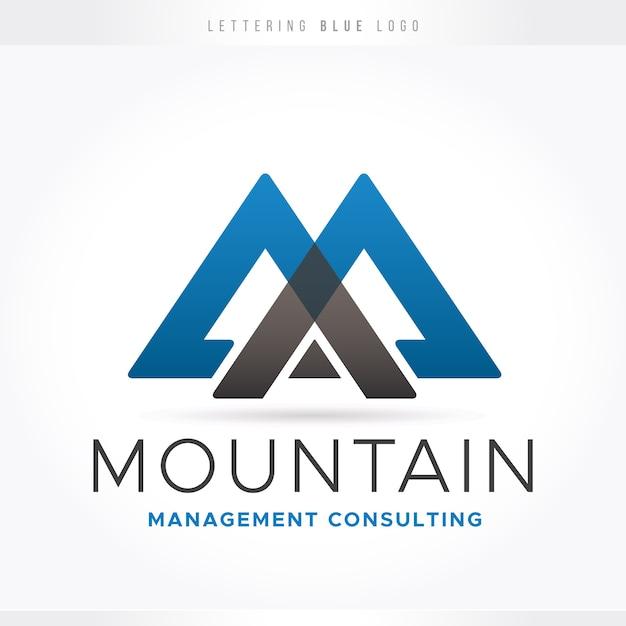 Blue letter logo Premium Vector
