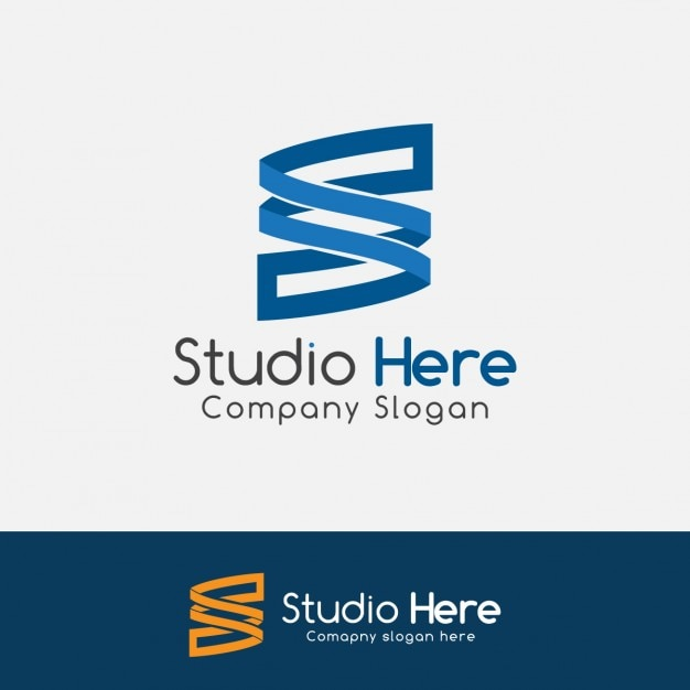blue letter s logo vector | free download