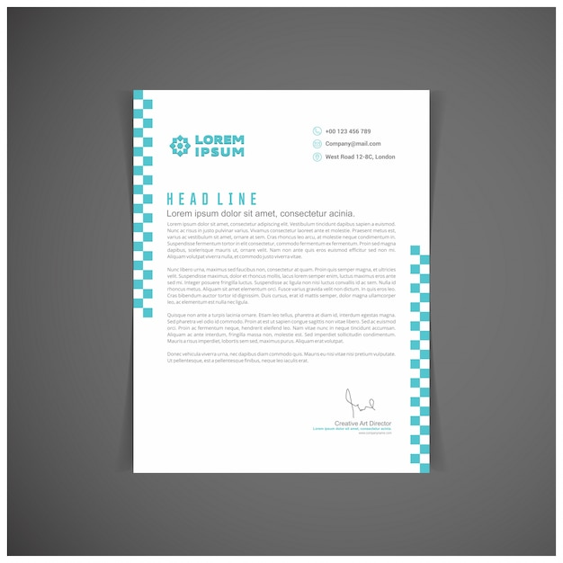 Blue Letterhead Template Vector  Free Download