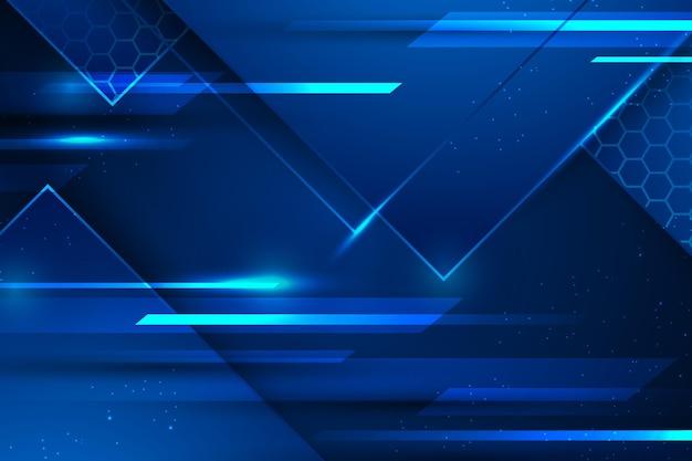 青い光速デジタル背景 無料ベクター