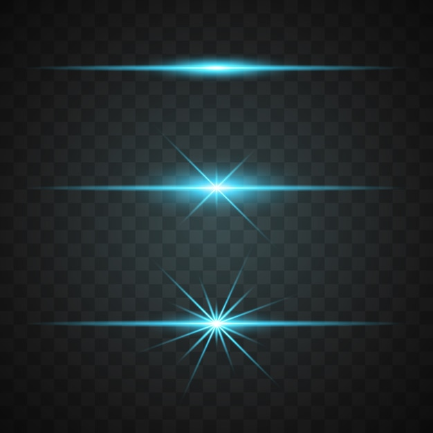 Blue lights collection Free Vector