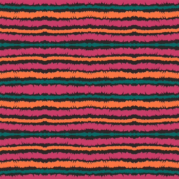 Blue line vector seamless pattern. mexican paper stripe Premium Vector