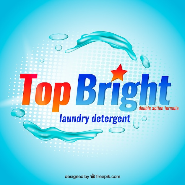 Blue liquid detergent background Free Vector