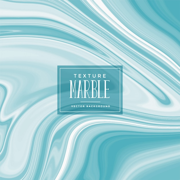Blue liquid marble texture background Free Vector