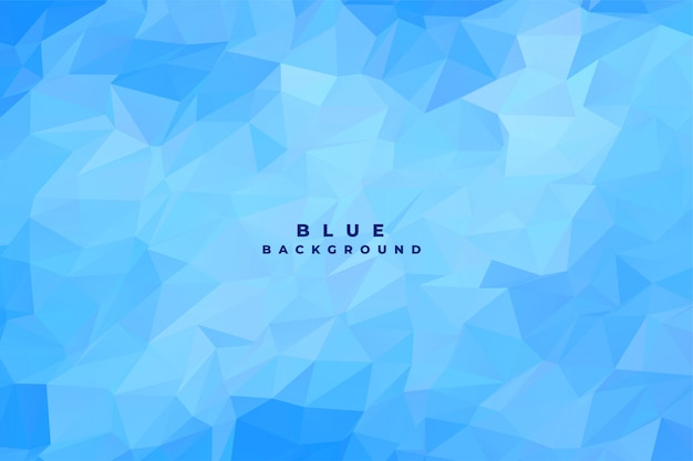 Blue low poly empty background Free Vector