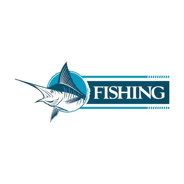 Голубая марлинская рыба Premium векторы