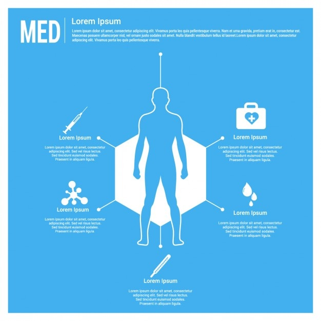 blue medical template vector free download