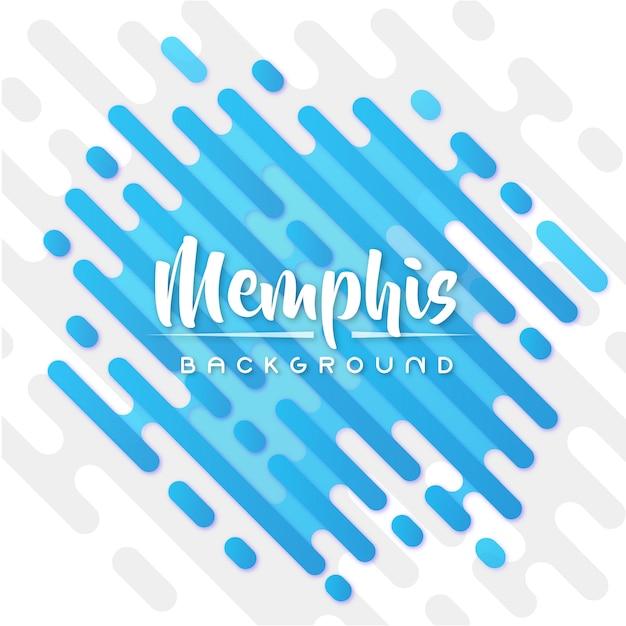 Blue memphis banner background Premium Vector