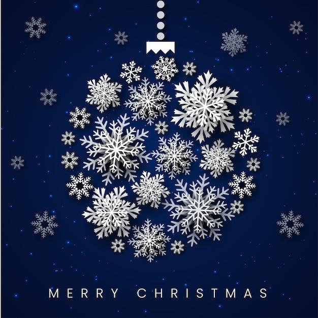 Blue merry christmas background Premium Vector