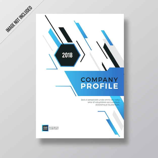 Blue Modern Abstract Element Company Profile Design Vector
