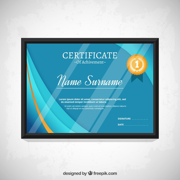 Blue modern certificate template vector premium download blue modern certificate template premium vector yelopaper Image collections
