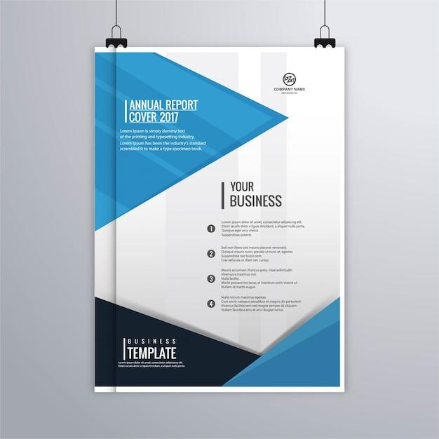 Blue modern corporate brochure