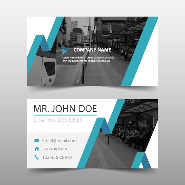 Blue modern corporate business card