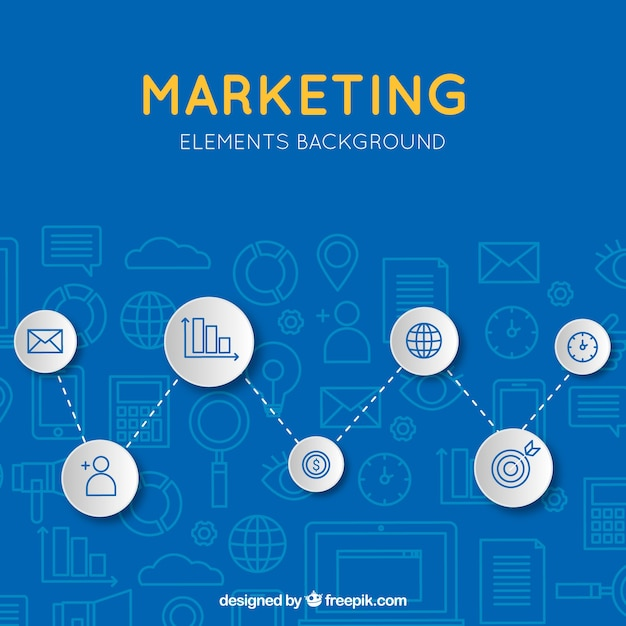 Blue modern marketing background Free Vector