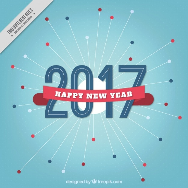 blue new year background with ribbon free vector