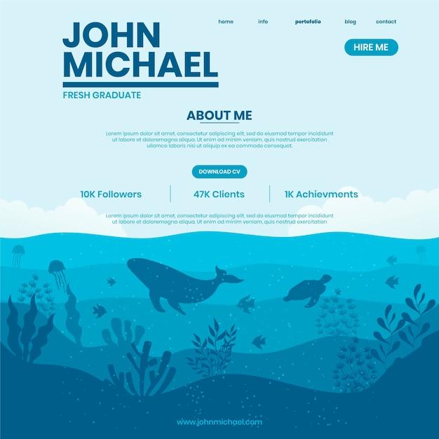 Голубой океан ресторан онлайн резюме Бесплатные векторы