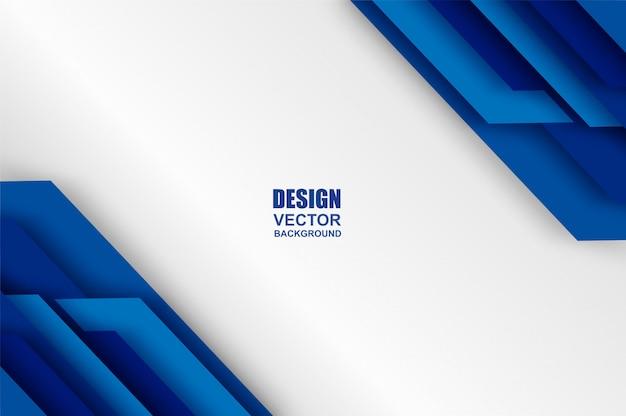 Blue overlap background Premium Vector