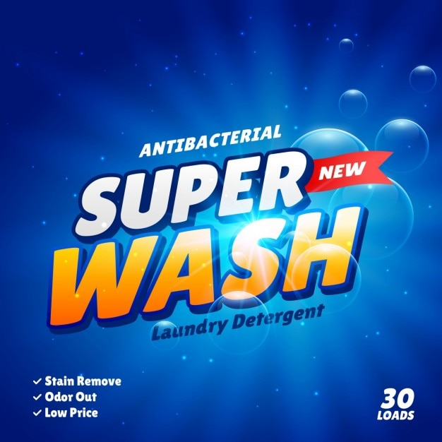 Blue Packaging For Detergent Vector Free Download