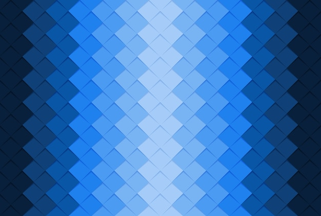 Blue paper square abstract background. Premium Vector