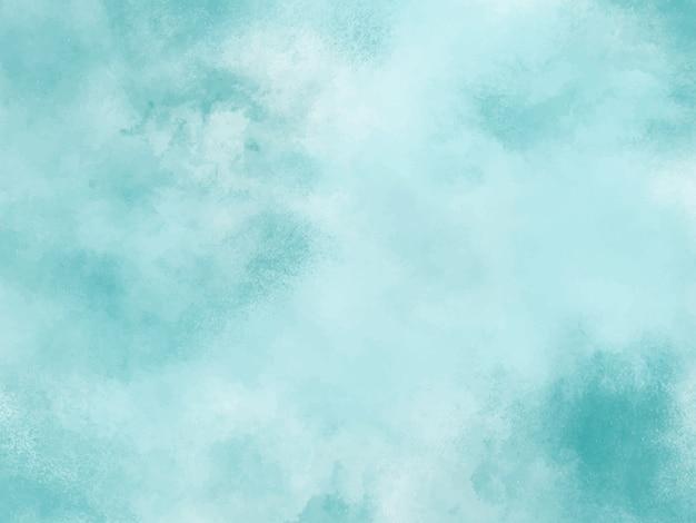 Blue Pastel Watercolor Background Grunge Texture Digital Art Painting Premium Vector