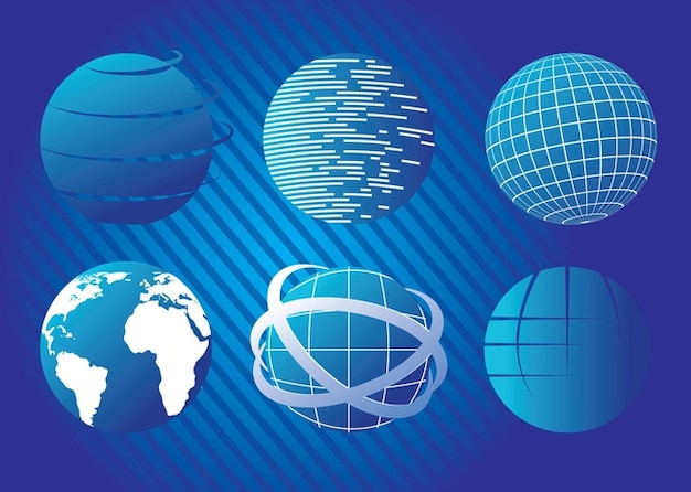 Blue Planet Vectors Free Vector