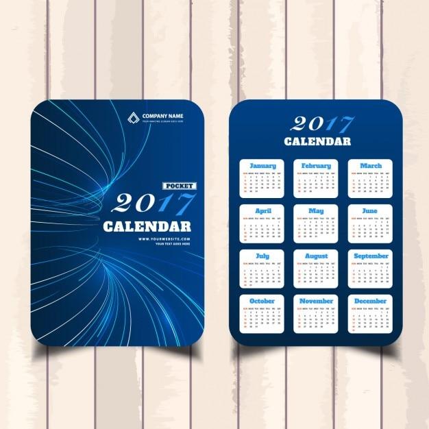 Blue pocket calendar Free Vector
