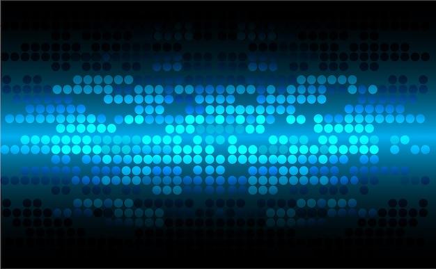 青い点のサイバーデジタル技術の概念の背景 Premiumベクター