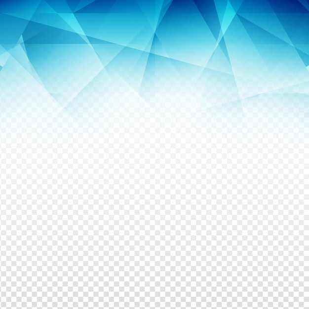 blue polygonal abstract shapes with a transparent