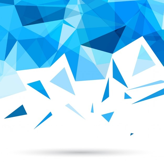 blue polygonal background with triangles_1048 5052