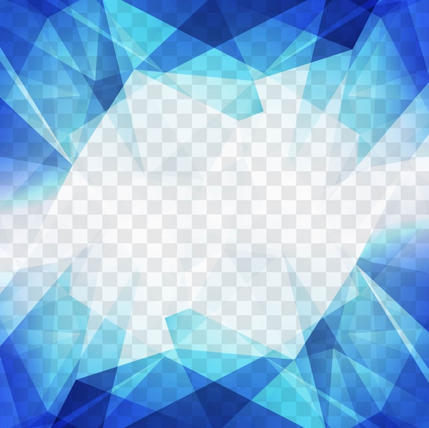 Blue polygonal shapes for a geometric background Free Vector