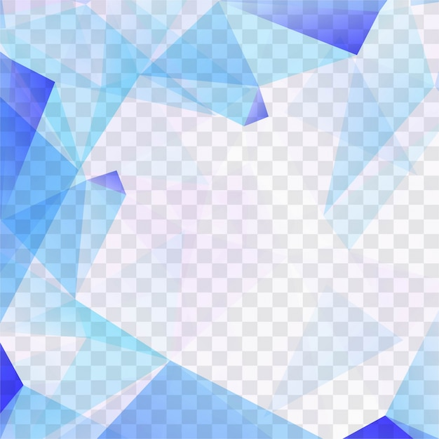 blue polygonal shapes on transparent background vector