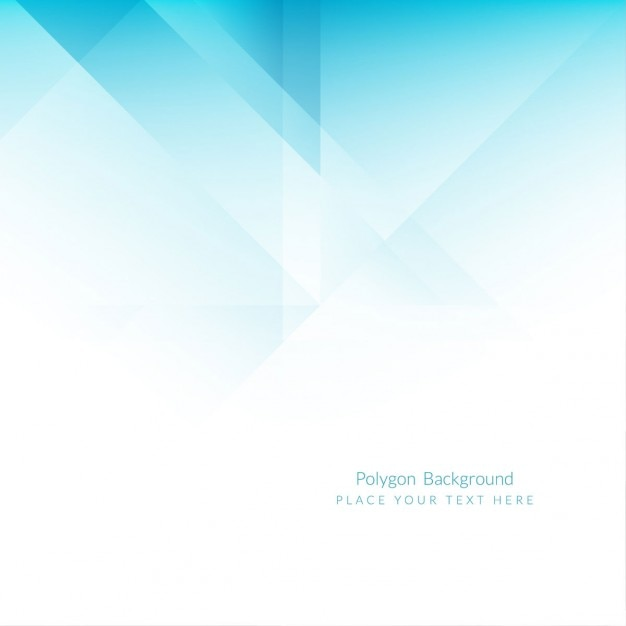 blue polygons background vector
