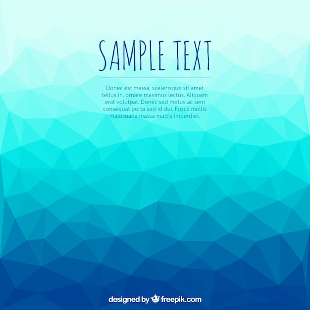 Blue polygons background Premium Vector