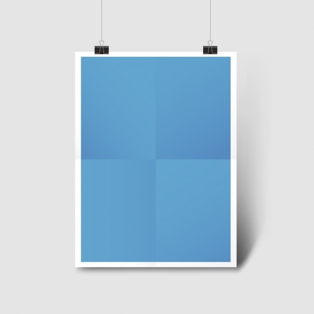 blue poster template vector free download