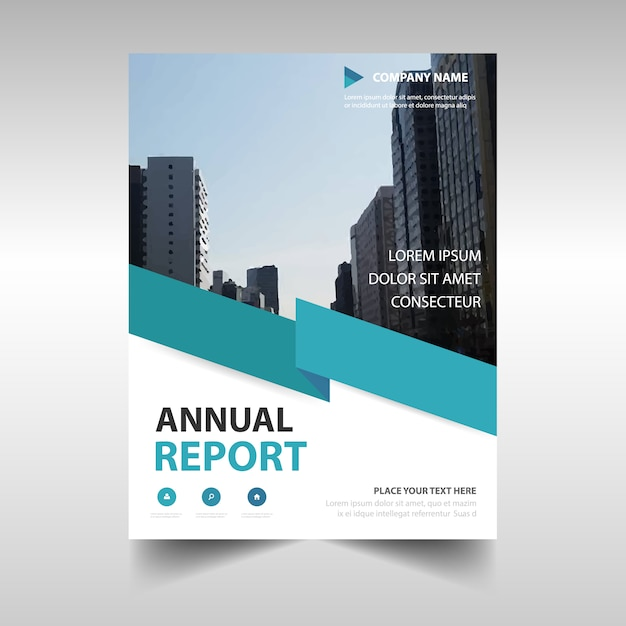 Blue Professional Annual Report Template Vector  Free Download