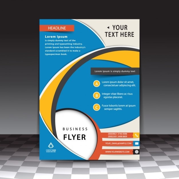 ... Professional Flyer Template By Blue Professional Flyer Template Vector  Free ...