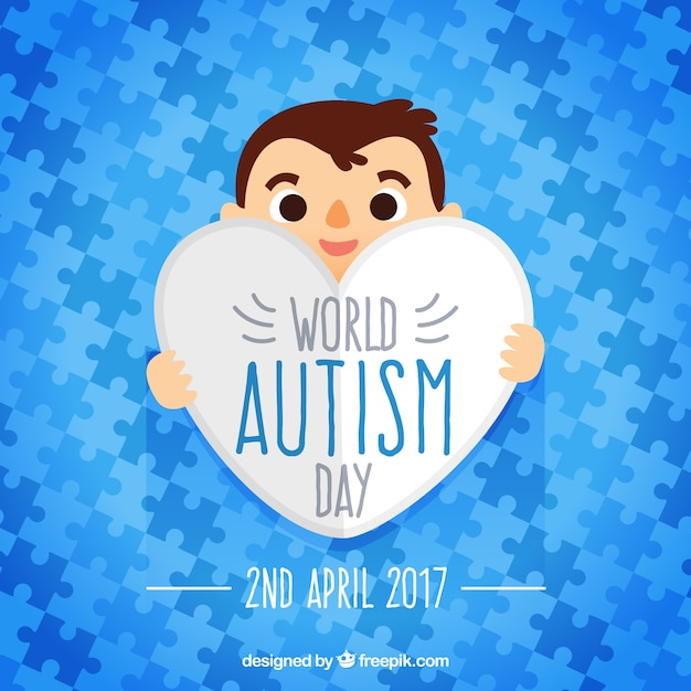 Blue puzzle pieces of world autism day puzzle pieces Free Vector