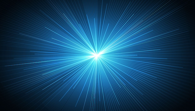 Blue radial speed lines background Free Vector