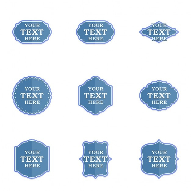 Blue retro labels