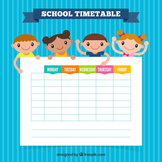 free school schedule template