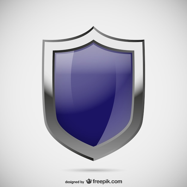 Blue security logo Free Vector