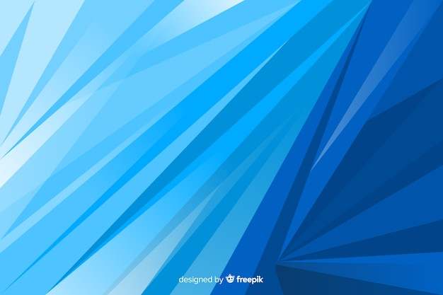 Blue shapes background abstract Free Vector