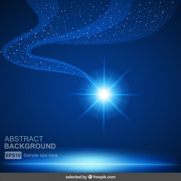 Blue shiny abstract background Free Vector