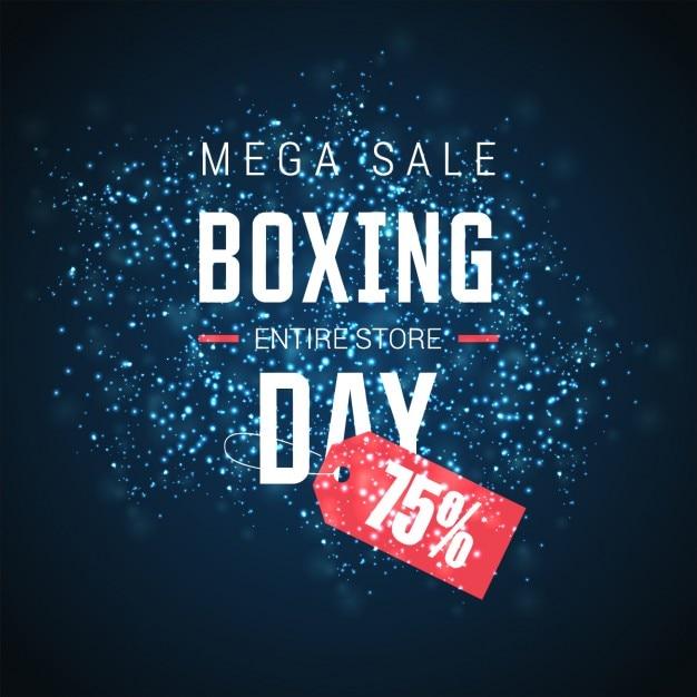Blue shiny boxing day background